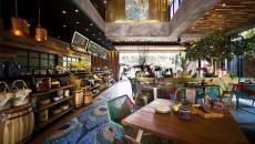 idée déco restaurant moderne exotique