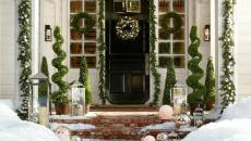 allée principale entrée maison déco de Noël