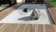 jardin zen cadre en bois exotique