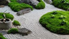 zen jardin dans parc citadin