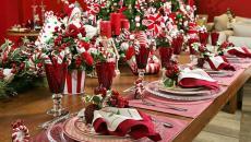 nombreux accessoires déco table pour Noël et jour de l'an