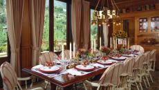 grande table de fête décoration idées Noël