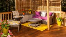 terrasse en bois espace outdoor pergola design