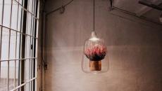 pot de fleur luminaire artistique à suspendre