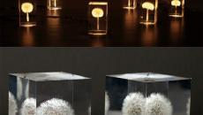 lampe design à poser fleurs lumineuses