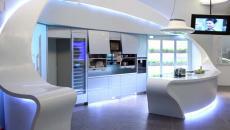 lumières led déco cuisine contemporaine futuriste design
