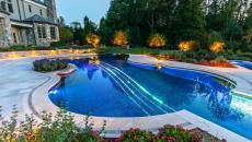 détails visible de la piscine