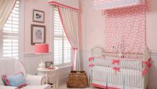 lit à baldaquin chambre de bébé déco