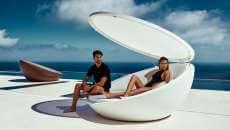 mobilier de luxe piscine jardin lit