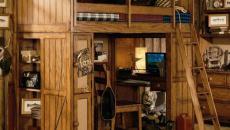 chambre d'enfant en bois rustique