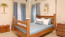 lit suspendu bois rustique mobilier design chambre