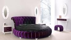 Design élégant et glamour pour lit rond