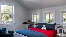 chambre à coucher moderne lit suspendu design