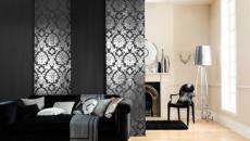 salon masculin style design noir panneaux japonais