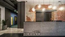 lobby de l'hôtel design Tobaco hotel