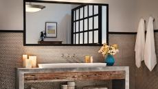 Ambiance rustre industriel salle de bains