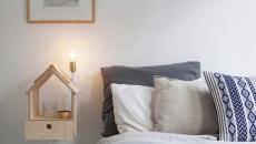 table et lampe de chevet chambre