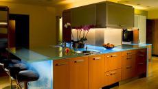 éclairage LED du comptoir cuisine tendance