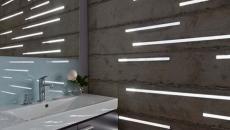 luminaires led originaux salle de bain mur