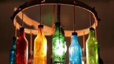 luminaire à partir d'anciennes bouteilles bombées