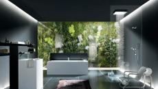 salle de bains contemporaine futuriste