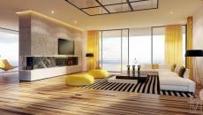 design intérieur maison minimaliste jaune