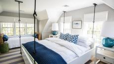 lit suspendu chambre à coucher moderne parentale