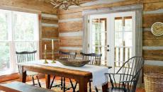 demeure secondaire campagne intérieur bois d'antan