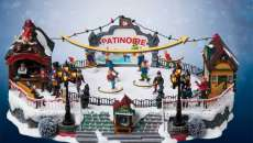 village de noël amusement jouets deco noël pour enfants
