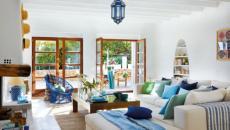 maison de campagne séjour lumineux