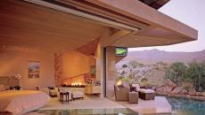 belle résidence contemporaine avec piscine dans chambre