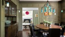 idées déco maison moderne touche rustique luminaire suspension