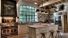 design écaillé rustique contemporain cuisine