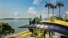 terrasse toit avec pelouse éco responsable durable