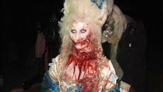 maquillage gore pour fête d'Halloween