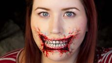 bouche ensanglantée maquillage halloween