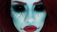 Maquillage bleu Halloween indée inspiration
