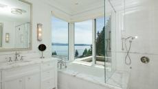 belle salle de bain design blanc marbre unique