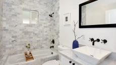 marbre pour une salle de bain blanche