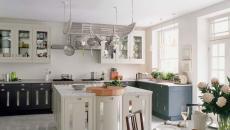 sol de cuisine en marbre élégant