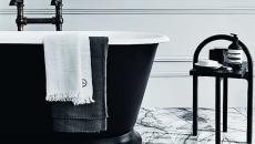 design éclectique marbre baignoire industriel retro revisité