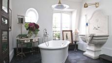 design éclectique salle de bains art