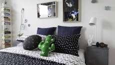 ameublement design industriel masculin déco chambre à coucher