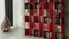 meuble de rangement rouge de designer