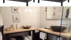 aménager salle de bain zen avec meubles de cuisine