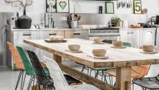 chaises rustique ambiance conviviale salle à manger cuisine