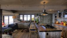 maison secondaire de campagne style rustique cuisine