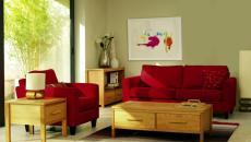 salon épuré design moderne rouge