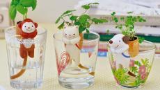 animaux adorables pots de fleurs enfants