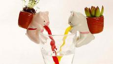 pots de fleurs animaux sympa enfants